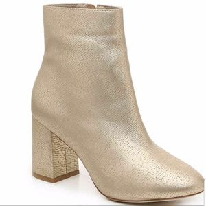 Matisse Grove Gold Chunky Bootie Made Brazil Sz 8
